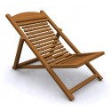 Folding Easy Chair - Wood (Wire)