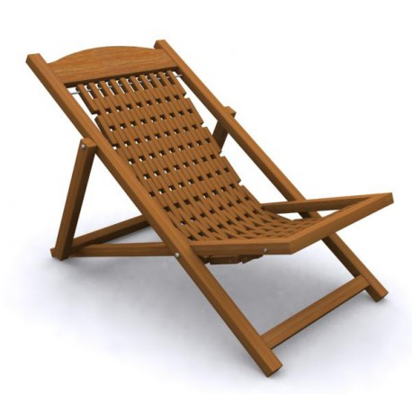 Folding Easy Chair - Wood